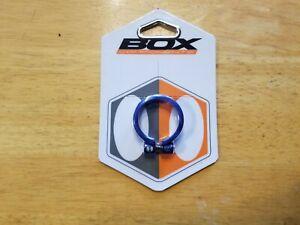Box Helix Fix Bike Seatpost Clamp 34.9mm BMX MTB Road Aluminum Blue