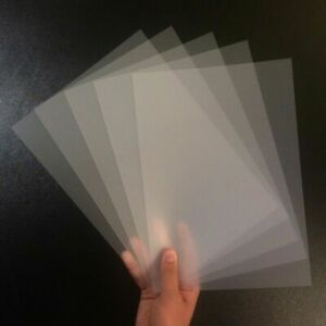 A4 Frosted Acetate 500 Micron x 5 Sheets - Clear Flexible Polypropylene Plastic