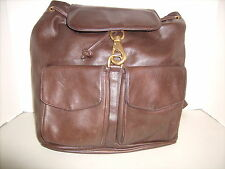 Vintage Perlina Brown Soft Leather Backpack