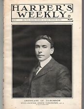 1902 Harpers Weekly November 29-Booth Tarkington; Foxhunt; Marconi; Doukhobers