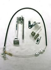 Street Rod Chrome Spoon Gas Pedal + Black Throttle Cable + Bracket & Spring Kit