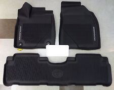 2014-2018 HIGHLANDER FLOOR LINERS RUBBER LIP TUBE STYLE GENUINE TOYOTA OEM 3PC