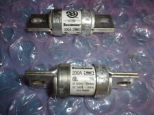 LOT OF 2 USED Bussman FWH-200B Semiconductor Fuse 200A