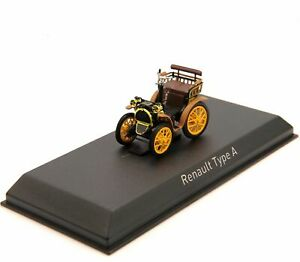 NOREV Renault Type A Diecast Vehicle Toys Convertible 1/43 Cars Model Collection