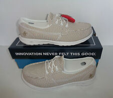 Skechers New GOwalk Lite Caribbean Deck Boat Taupe Lace Up Trainers Shoes Sizes