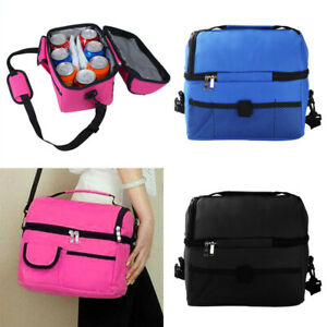 Large Insulated Lunch Bag Coolbag Work Picnic Adult Kids Food Storage Lunchbox