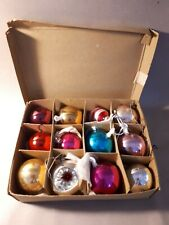12 x  vintage Christmas decorations.
