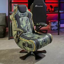 New X Rocker Covert Dark Ops 2.1 Wireless Audio Gaming Chair-See my buy it now i