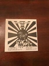 1980 Vintage 5.5X5.5 Promo Print Ad for The Tokyos Hits America Test Tube Baby