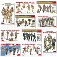 Miniart Figures 1/35 Scale WW2 US Soviet British Tank Crew Troops Uniform Kits