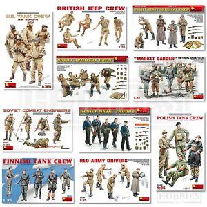 Miniart Figures 1/35 Scale WW2 US Soviet British Tank Crew Troops Uniform Kits