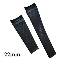 22MM RUBBER BAND STRAP CLASP REPLACEMENT FOR TAG HEUER CARRERA