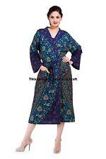 Ombre Mandala Bathrobe Kimono Casual Sleepwear Dress Night Gown Maxi Handmade