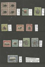NORTH BORNEO 1909-1931 USED SELECTION ALL IDENTIFIED CAT £87