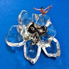 NWT ALEXIS BITTAR JARDIN MYSTERE CLEAR LUCITE CRYSTAL FLOWER BROOCH PIN 2.75""