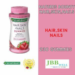 Nature's Bounty Hair, Skin and Nails, 230 Gummies Antioxidants, Biotin Exp.10/22