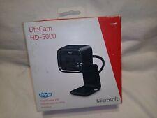 MICROSOFT LIFECAM HD-5000 720P HD WEBCAM MODEL 1415 - BLACK - NEW OPEN BOX