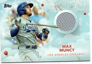 2020 Topps Holiday Relic Game-Used Jersey Max Muncy Dodgers