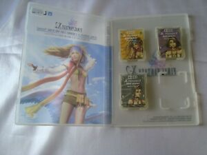 PlayStation 2 HORI Final Fantasy X-2 Memory Card Set & Case Rikku Yuna Paine PS2