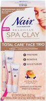 Nair Brazilian Spa Clay Total Care Face Trio, 1.35 Oz