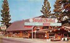 LAKE TAHOE CALIFORNIA Swiss Chalet Coffee Shop Roberts POSTCARD 1308