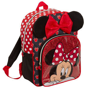 Minnie Mouse Girls Backpack Kids Disney School Nursery Rucksack Lunch Book Bag
