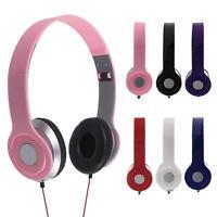 3.5mm Headphone Earphone Headset Over-Ear For iPhone iPod MP3 MP4 PC Table Tab
