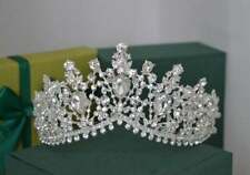 Beautiful Sparkling Women's Tiara With Swarovski Crystals In 925 Sterling Silver