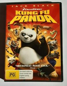 Kung Fu Panda Jack Black Kids PAL DVD R4 VGC