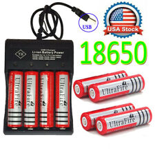 Lot UltraFire Powerful 18650 Battery 3.7V Li-ion Rechargeable Batteries Chargers
