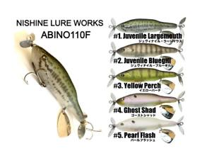"Nishine Lure Works Abino 110F 25.5g 4.33"" Top Water Swisher Prop Blade Bait Bass"