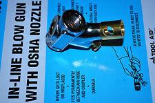 S & G Tool Aid 99180 Inline Blow Gun with OSHA Nozzle w/ brass valve,osha end hd