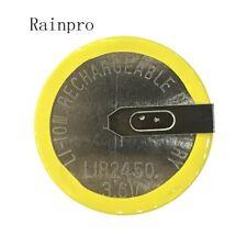 Rainpro 2 PCS/LOT LIR2450 soudage horizontal pied batterie 3.6 V rechargeable