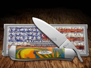 Case xx Russlock Knife Feather McCall Corelon 6084FMC Stainless Pocket Knives