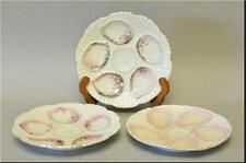Three Porcelain Oyster Plates Pre-Owned
