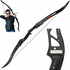 """40lb Archery 56"""" Takedown Recurve Bow Hunting Longbow Shooting Target Right Hand"""