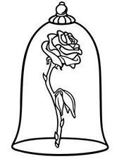Decal Vinyl Truck Car Laptop Sticker - Disney Beauty And Beast Enchanted Rose