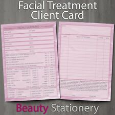 Facial Treatment Client Record Card Portrait Form PREMIUM Consultation A6