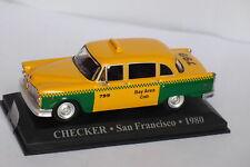 CHECKER TAXI SAN FRANCISCO 1980 USA 1/43 UNITED STATES YELLOW GREEN JAUNE GELB