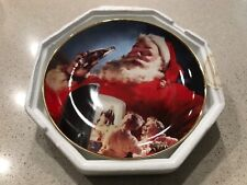"""Stocking Up For Santa"" Coca-Cola Collector Plate from the Franklin Mint 1994"