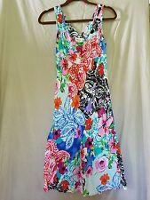 Jams World XS floral paisley multi color tank top flowy rainbow sun dress