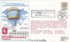Rare AC5db  200th Anniv start Montgolfier trials balloon.Flown RAF Kite Balloon