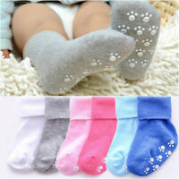 Candy Color Soft Cotton Kids Socks Anti Slip Socks Baby Girls Boys Socks New
