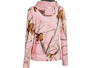 Fieldline Reversible Women's Ladies Pink Camo Realtree Sweatshirt Hoodie 2A10-12