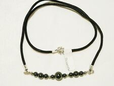 "HEMATITE CHOKER NECKLACE 48CM SILVER PLATED ""NEW"" AUZ MADE CH20"