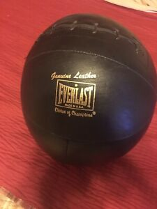 Vintage Everlast Genuine Leather Choice Of Champions Medicine Ball Made In USA