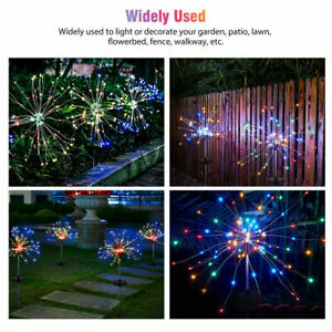 200 LED Solar Firework Lights Waterproof Outdoor Path Lawn Garden Lamp Decor