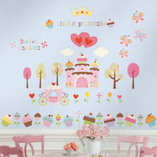 Roommates Cupcake Castle Wall Stickers | Girls Bedrooms Castle Wall Stickers