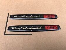2X NEW TOYOTA TRD RACING SPORT TRUNK TAILGATE I FENDER EMBLEM LOGO BADGE #11