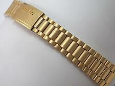 Kevin Drema for Benrus 20mm Gold Tone Deployment Clasp Mens Vintage Watch Band